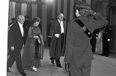 Harold Wilson arriving at the Lord Mayors Banquet, Guildhall, London 1975 - NLA - 1970s,1975,Alderman Sir Lindsay Ring,ARRIVAL,arrivals,arrive,arrives,arriving,cities,City,FEMALE,Guildhall,Harold Wilson,Labour Party,London,Lord Mayors banquet,male,man,Mary Wilson,men,MP,MPs,people,