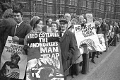 Agricultural workers lobbying Parliament over tied cottages and forced evictions from their homes, London 1975 - NLA - 1970s,1975,cities,City,evicting,eviction,evictions,farm,farmhand,farmhands,farmworker,farmworkers,FEMALE,forced evictions,home,homes,Housing,landworker,landworkers,lobby,London,male,man,member,member
