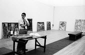 Roland Penrose curating the first major retrospective exhibition of the work of Pablo Picasso, Tate Gallery London 1960. Co-founder of the ICA Penrose was a friend and biographer to Pablo Picasso - Alan Vines - 18-06-1960
