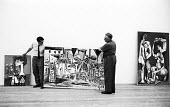 Roland Penrose curating the first major retrospective exhibition of the work of Pablo Picasso, Tate Gallery London 1960. Co-founder of the ICA Penrose was a friend and biographer to Pablo Picasso - Alan Vines - 1960,1960s,ACE,art,arts,artwork,artworks,Bay of Cannes,choice,choosing,cities,City,cubism,culture,curating,curator,deciding,decisions,exhibition,Gallery,handling,hang,hanging,ICA,Institute of Contempo