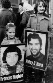 Children with placards of hunger strikers Frances Hughes and Patsy O'Hara, Falls Road, West Belfast, Northern Ireland, 1981 Ten hunger strikers died in 1981, republican prisoners wanted political stat... - David Mansell - 1980s,1981,activist,activists,against,CAMPAIGN,campaigner,campaigners,CAMPAIGNING,CAMPAIGNS,Catholic,Catholic catholics,Catholics,child,CHILDHOOD,children,cities,city,Conflict,Conflicts,DEMONSTRATING,