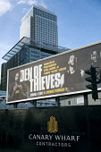Den of Thieves, American heist film advertisement with Bank of America, HSBC, Canary Wharf, London Docklands - Jess Hurd - 2010s,2018,advertisement,advertisements,advertising,America,American,americans,Bank,Bank of America,Banks,billboard,billboards,blocks,business,Canary Wharf,capitalism,capitalist,Christian Gudegast,cit