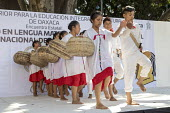 Oaxaca, Mexico Mixtec group performing a traditional harvest dance. Indigenous community celebrating The International Day of The Mother Tongue. The day is dedicated to the protection of native langua... - Jim West - 2010s,2018,ACE,adult,adults,Arts,BAME,BAMEs,basket,BEMM,BEMMS,BME,bmes,CELEBRATE,celebrating,celebration,CELEBRATIONS,communicating,communication,communities,community,Culture,Día Internacional de la