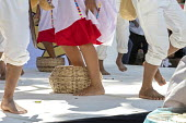 Oaxaca, Mexico Mixtec group performing a traditional harvest dance. Indigenous community celebrating The International Day of The Mother Tongue. The day is dedicated to the protection of native langua... - Jim West - 2010s,2018,ACE,adult,adults,Arts,BAME,BAMEs,bare feet,basket,BEMM,BEMMS,BME,bmes,CELEBRATE,celebrating,celebration,CELEBRATIONS,communicating,communication,communities,community,Culture,Día Internaci