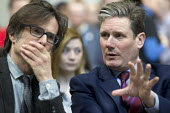 Robert Peston taking to Keir Starmer MP Labour Party Jobs First Brexit speech, Coventry University Technology Park - John Harris - 26-02-2018