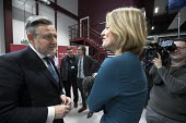 Laura Kuenssberg BBC Political Editor interviwing Barry Gardiner MP Labour Party Jobs First Brexit speech, Coventry University Technology Park - John Harris - 26-02-2018