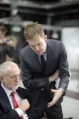 Seumas Milne advising Jeremy Corbyn Labour Party Jobs First Brexit speech, Coventry University Technology Park - John Harris - 26-02-2018