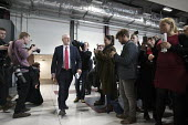 Jeremy Corbyn arriving Labour Party Jobs First Brexit speech, Coventry University Technology Park - John Harris - 26-02-2018
