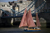 Thames Sailing Barge, Tower Bridge, London - Jess Hurd - 2010s,2018,Barge,boat,boats,bridge,bridges,building,buildings,cities,City,estuaries,estuary,Heritage,journey,JOURNEYS,Leisure,LFL,LIFE,Lifestyle,London,marine,maritime,maritime industry,nautical,Noah,