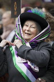 March4Women retracing the historic steps of the suffragettes past Parliament to Trafalgar Square organised by CARE International UK, Westminster, London - Jess Hurd - 2010s,2018,activist,activists,age,ageing population,anniversary,CAMPAIGNING,CAMPAIGNS,CARE International UK,costume,costumes,DEMONSTRATING,demonstration,dressed up,dressing up,elderly,Equal Rights,equ