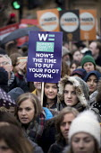 Womens Equality Party, March4Women retracing the historic steps of the suffragettes past Parliament to Trafalgar Square organised by CARE International UK, Westminster, London. - Jess Hurd - 04-03-2018