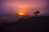 Kilauea volcano, Big Island, Hawaii Volcanoes National Park. A major eruption is predicted because of the rising lava in the caldera of the active volcano - David Bacon - 2010s,2018,caldera,ENI,environment,Environmental Issues,erupting,eruption,eruptions,flame,flames,Hawaii,Kilauea,lava,mountain,MOUNTAINS,nature,night time,rural,smoke,steam,volcanic,volcano,volcanoes,v