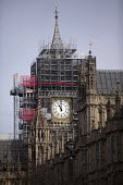 Scaffolding for renovation and repairs of Big Ben, Houses of Parliament, Westminster, London - Jess Hurd - 2010s,2018,ACE,architecture,Arts,Big Ben,building,buildings,CLOCK,Clock Tower,clocks,Culture,EBF,Economic,Economy,Houses,Houses of Parliament,London,maintaining,maintenance,Palace of Westminster,Parli