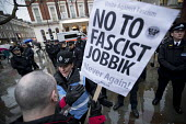 Anti fascist protest outside a secret meeting of Jobbik, a far right Hungarian political party, South Kensington, London - Jess Hurd - 09-03-2018