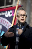 Professor Des Freedman, Goldsmiths speaking, UCU university lecturers pensions strike, London - Jess Hurd - 14-03-2018