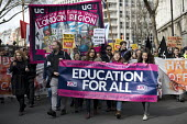 UCU university lecturers pensions strike protest, London - Jess Hurd - 14-03-2018