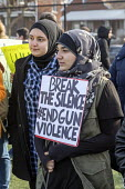 Dearborn, Michigan USA Students walk out of class in protest against gun violence one month after 17 were killed in the Parkland High School shooting. Fordson High School - Jim West - 14-03-2018