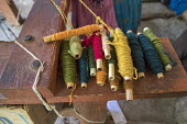 San Miguel del Valle, Oaxaca, Mexico - Colorful yarn to weave rugs. Microfinance loans from the non profit En Via are supporting small businesses in the village - Jim West - 24-02-2018