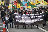 Afrin protesters, March against Racism, UN Anti Racism Day, Stand Up To Racism, London - Jess Hurd - 2010s,2018,activist,activists,Afrin,against,anti racism,anti racist,arms selling,Arms Trade,BAME,BAMEs,banner,banners,bigotry,Black,Black and White,BME,bmes,CAMPAIGNING,CAMPAIGNS,capitalism,DEMONSTRAT