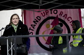 Emma Dent Coad MP speaking, March against Racism, UN Anti Racism Day, Stand Up To Racism, London - Jess Hurd - 17-03-2018