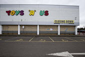 Closing down Toys R Us store, Coventry - John Harris - 2010s,2018,administration,bankrupt,bankruptcy,Business,car park,close,CLOSED,Closing,closing down,closure,closures,DOWNTURN,EBF,Economic,Economic Crisis,Economy,outlet,outlets,recession,recessions,ret