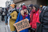 Supporters of the Stansted 15 protest, Chelmsford Crown Court on day one of the 6 week trial on terrorism charges after chaining themselves to a deportation flight to Nigeria and Ghana at Stansted Air... - Philip Wolmuth - 2010s,2018,activist,activists,air transport,airline,Airport,AIRPORTS,CAMPAIGNING,CAMPAIGNS,Court,DEMONSTRATING,demonstration,deportation,deporting,detentions,Diaspora,flight,FLIGHTS,flying,foreign,for