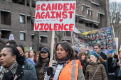 Camden Against Violence silent march by community campaigners and NEU against knife crime following a series of fatal stabbings in the area - Philip Wolmuth - 22-03-2018