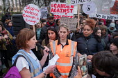 Elaine Donnellon, organiser. Camden Against Violence silent march by community campaigners and NEU members against knife crime following a series of fatal stabbings in the area - Philip Wolmuth - 22-03-2018