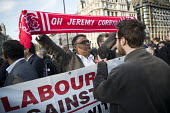 Counter protest by Corbyn supporters. Protest against anti semitism in the Labour Party by the Jewish Leadership Council and The Board of Deputies of British Jews, Parliament Square, London. Labour Ag... - Jess Hurd - 26-03-2018