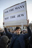 Protest against anti semitism in the Labour Party by the Jewish Leadership Council and The Board of Deputies of British Jews, Parliament Square, London. For the Many Not the Jew - Jess Hurd - 26-03-2018