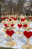 Chicago, USA Crosses representing those killed by guns in the city during the first three months of 2018. Since 2016, retired carpenter Greg Zanis has made wooden crosses to remember each homicide vic... - Jim West - 2010s,2018,America,american,americans,Belief,carpenter,Chicago,christian,christianity,christians,cities,City,conviction,Crime,cross,crosses,Crosses for Losses,death,deaths,died,faith,firearm,firearms,