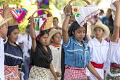 San Juan Teitipac, Oaxaca, Mexico Children performing, Zapotec Heritage Fair celebrating the culture of the region - Jim West - 22-02-2018