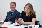Georgia Gould, Camden Council leader speaking and Keir Starmer MP. Camden Labour Party manifesto launch, May local government elections, London - Philip Wolmuth - 10-04-2018