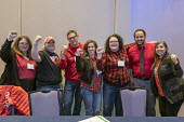 Chicago, USA Labor Notes conference, teachers from West Virginia, Arizona and Kentucky celebrating their successful statewide strike with three thousand union activists attending the biannual meeting.... - Jim West - 07-04-2018