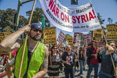 California, USA protest against the attack on Syria - David Bacon - 15-04-2018