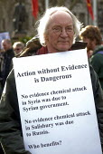 Stop The War Coalition Don't Bomb Syria rally, Parliament Square, London. Protest against airstrikes by UK, French and American forces - Stefano Cagnoni - 16-04-2018