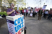 Darrall Cozens UCU speaking, protest at the derecognition of the UCU by CU Group, Coventry University. CU Group secretly registered its Staff Consultative Group as a union and signed a recognition agr... - John Harris - 18-04-2018