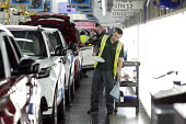 Jaguar Land Rover factory, Solihull - John Harris - 2010s,2017,assembly,AUTO,AUTOMOBILE,AUTOMOBILES,automotive,car,Car Industry,carindustry,cars,EBF,Economic,Economy,employee,employees,Employment,end of the line,engineer,engineers,FACTORIES,factory,fin