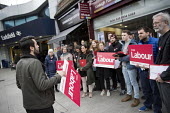 Labour Party local election campaign, Earlsfield ward, Wandsworth, London - Jess Hurd - 29-04-2018