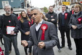 Sadiq Khan campaigning with Dr Rosena Allin-Khan MP and Harriet Harman MP, Labour Party local election campaign, Earlsfield ward, Wandsworth, London - Jess Hurd - 2010s,2018,BAME,BAMEs,Black,BME,bmes,campaign,campaigning,CAMPAIGNS,candidate,candidates,cities,City,DEMOCRACY,diversity,Dr Rosena Allin-Khan,Earlsfield,election,elections,ethnic,ethnicity,Harriet Har