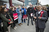 Sadiq Khan campaigning with Dr Rosena Allin-Khan MP and Harriet Harman MP, Labour Party local election campaign, Earlsfield ward, Wandsworth, London - Jess Hurd - 29-04-2018
