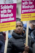 Solidarity with Windrush generation and their families Stand Up to Racism protest as the issue is debated in Parliament, Westminster, London - Jess Hurd - 2010s,2018,activist,activists,against,Anti Racism,anti racist,BAME,BAMEs,bigotry,Black,BME,bmes,CAMPAIGNING,CAMPAIGNS,Caribbean,DEMONSTRATING,demonstration,Diaspora,DISCRIMINATION,diversity,equal,equa