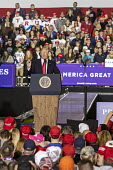 Washington Township, Michigan USA: President Donald Trump campaign rally - Jim West - 2010s,2018,America,american,americans,campaign,CAMPAIGNING,CAMPAIGNS,Donald Trump,Far Right,Far Right,Flag,flags,government,Macomb County,Michigan,nationalism,nationalist,nationalists,POL,political,PO