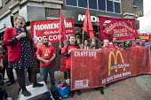 Laura Pidcock MP, Labour Party, former McDonalds worker speaking McDonalds workers strike for £10 per hour, an end to zero hours contracts and union recognition on International Workers Day, Watford,... - Jess Hurd - 01-05-2018