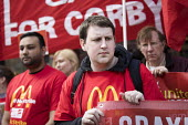 McDonalds workers strike for £10 per hour, an end to zero hours contracts and union recognition on International Workers Day, Watford, home to global CEO Steve Easterbrook - Jess Hurd - 2010s,2018,£10 per hour,ACTIVIST,ACTIVISTS,against,banner,banners,BFAWU,campaign,campaigner,campaigners,campaigning,CAMPAIGNS,catering,contract,contracts,DEMONSTRATING,demonstration,DEMONSTRATIONS,di