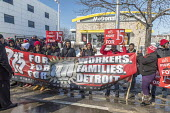 Detroit, Michigan USA Fast food workers protest at a McDonalds restaurant for a $15 per hour minimum wage. 50th anniversary of the historic 1968 Memphis sanitation workers strike - Jim West - 12-02-2018