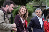 Sadiq Khan with Camden Council leader Georgia Gould and candidate Sorin Floti. Labour Party local election campaign, Fortune Green, West Hampstead and Swiss Cottage wards, London Borough of Camden. - Philip Wolmuth - 2010s,2018,BAME,BAMEs,Black,BME,bmes,campaign,campaigning,CAMPAIGNS,candidate,candidates,Cottage,COTTAGES,council,democracy,diversity,election,elections,ethnic,ethnicity,FEMALE,Georgia,Labour Party,le