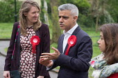 Sadiq Khan with Camden Council leader Georgia Gould. Labour Party local election campaign, Fortune Green, West Hampstead and Seiss Cottage wards, London Borough of Camden. - Philip Wolmuth - 02-05-2018