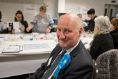 Conservative council leader Richard Cornelius. London Borough of Barnet local election count. - Philip Wolmuth - 2010s,2018,ballot,BALLOTING,ballots,CONSERVATIVE,Conservative Party,conservatives,council,councillors,count,counting,democracy,election,elections,leader,local,local authority,local elections,local gov