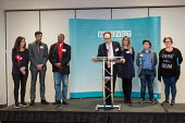 John Hooton, Returning Officer, announcing the result for Burnt Oak ward (Labour hold). London Borough of Barnet local election count. - Philip Wolmuth - 04-05-2018